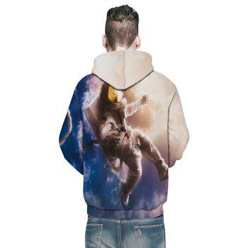 Fashion New Astronaut 3D Printing Men's Hoodie - multicolor 3XL