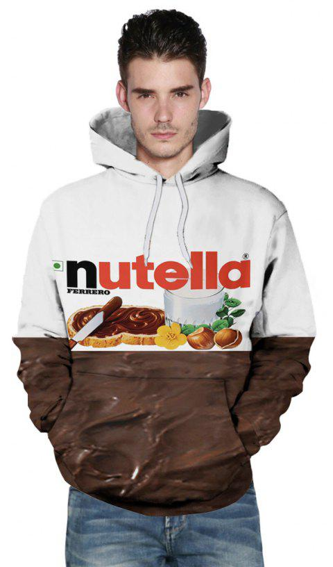 New Fashion Double Color 3D Printing Male Hoodie - multicolor M