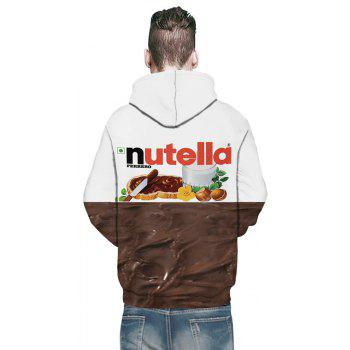 New Fashion Double Color 3D Printing Male Hoodie - multicolor L
