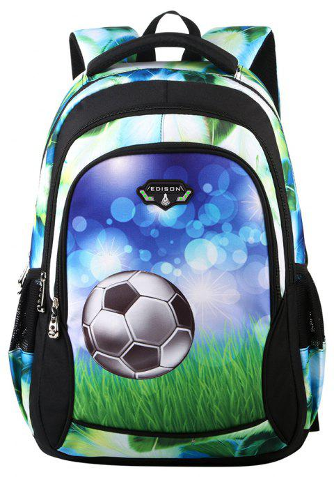 Edison Children Bag Grade Primary School Pupil's Bookbag Football Backpack - BLACK