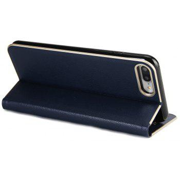 for iPhone 7 Plus/8 Plus Case Kickstand Feature Card Slots and Magnetic - DENIM DARK BLUE