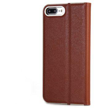 for iPhone 7 Plus/8 Plus Case Kickstand Feature Card Slots and Magnetic - BROWN