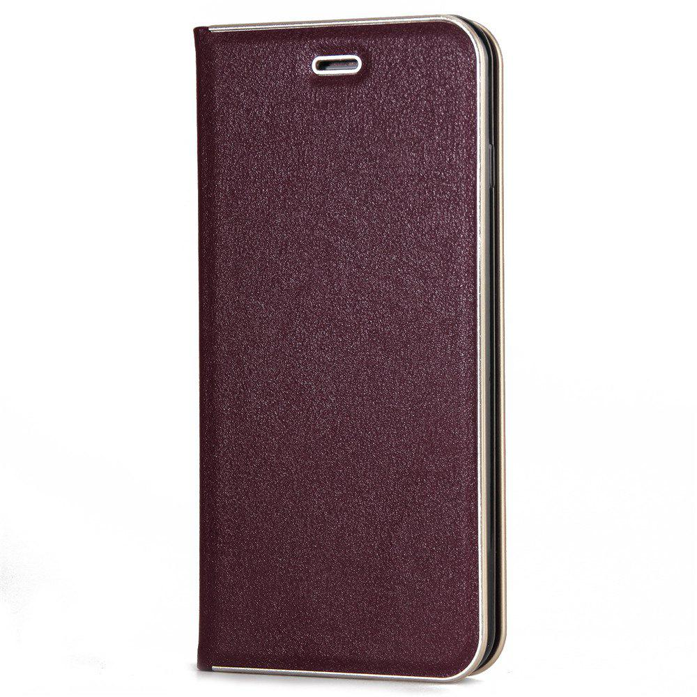 for iPhone 7 Plus/8 Plus Case Kickstand Feature Card Slots and Magnetic - RED WINE