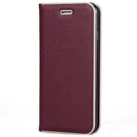 for iPhone 7/8  Case Kickstand Feature Card Slots and Magnetic - RED WINE