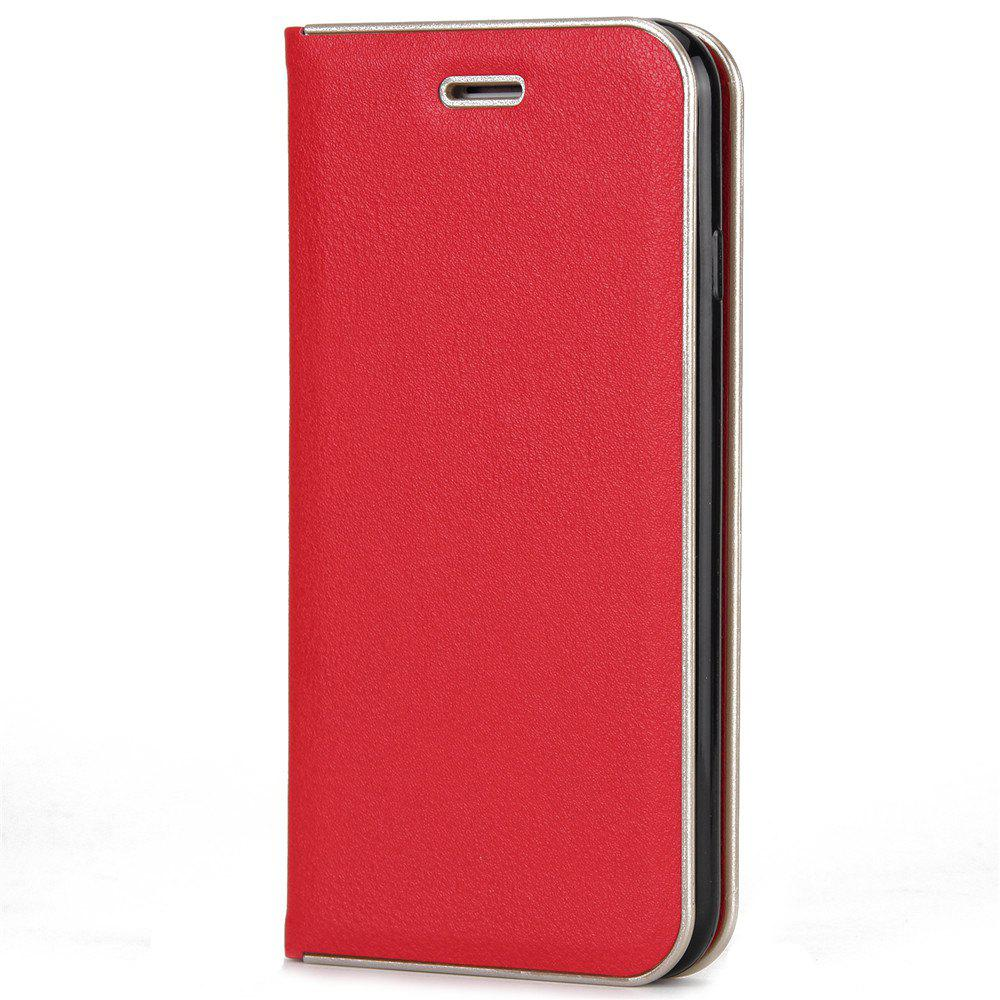 for iPhone 7/8  Case Kickstand Feature Card Slots and Magnetic - RED