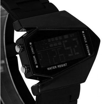 Lucky Family G1166 Lucky Family LED Creative Plane Shaped Watch - BLACK