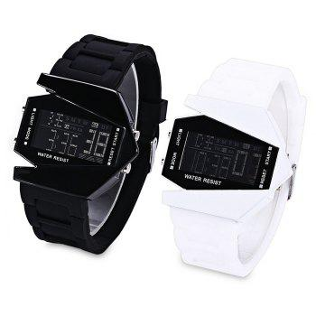 Lucky Family G1166 Lucky Family LED Creative Plane Shaped Watch - WHITE