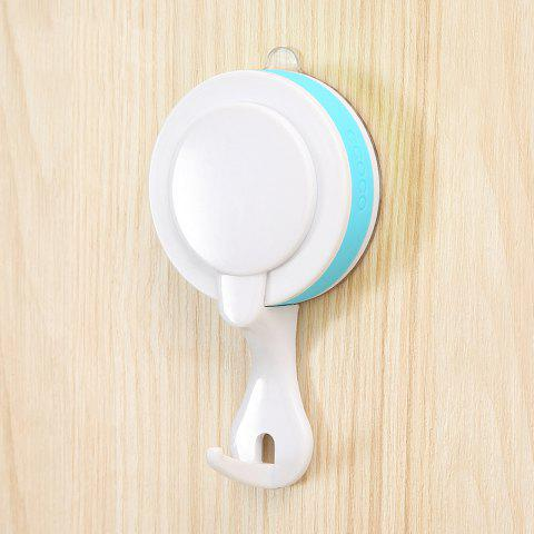 Seamless Nail-Free Waterproof Moisture Tight Sucker Hook Rough Surface Applicable - LIGHT BLUE 11.7X6.2X3.2CM