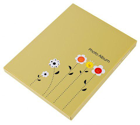 6 Inch Photo Album Postcard Travel Growth Collection 80 Pieces - FALL LEAF BROWN 23.4X18.4X1.7CM