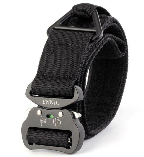 ENNIU Quick Dry Multi-Function Tactical Military Nylon Belt with Metal Buckle - BLACK