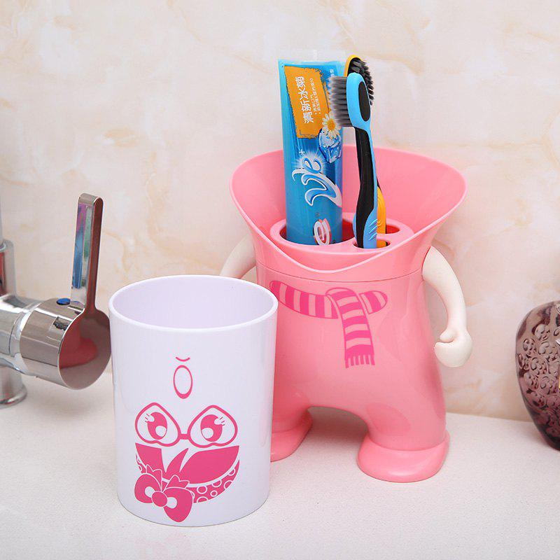 Wash Suit Creative Toothbrush Holder Dust-Resistant Mouth Cup Variety Shape - FLAMINGO PINK 12X12X20.2CM