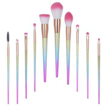 TODO 10pcs Professional Fantasy Makeup Set High Quality Brushes - multicolor