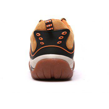 Men's Metal Button Breathable Non-slip Outdoor Sport Hiking Sneakers - BROWN SUGAR 43