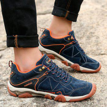 Men's Metal Button Breathable Non-slip Outdoor Sport Hiking Sneakers - MIDNIGHT BLUE 38