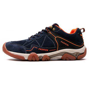 Men's Metal Button Breathable Non-slip Outdoor Sport Hiking Sneakers - MIDNIGHT BLUE 39