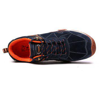 Men's Metal Button Breathable Non-slip Outdoor Sport Hiking Sneakers - MIDNIGHT BLUE 42