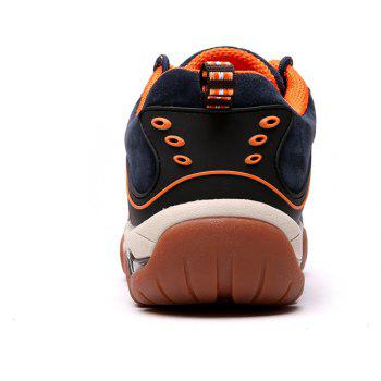Men's Metal Button Breathable Non-slip Outdoor Sport Hiking Sneakers - MIDNIGHT BLUE 44