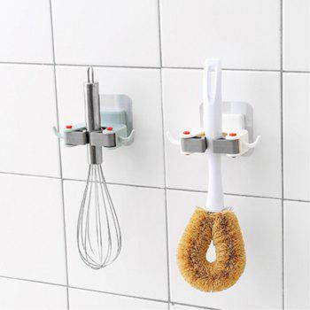 The Combination of The Wall Free Hole Mop Hooks - multicolor
