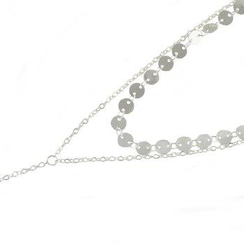 Minimalist Silver Gold-Color Chain Necklace - SILVER