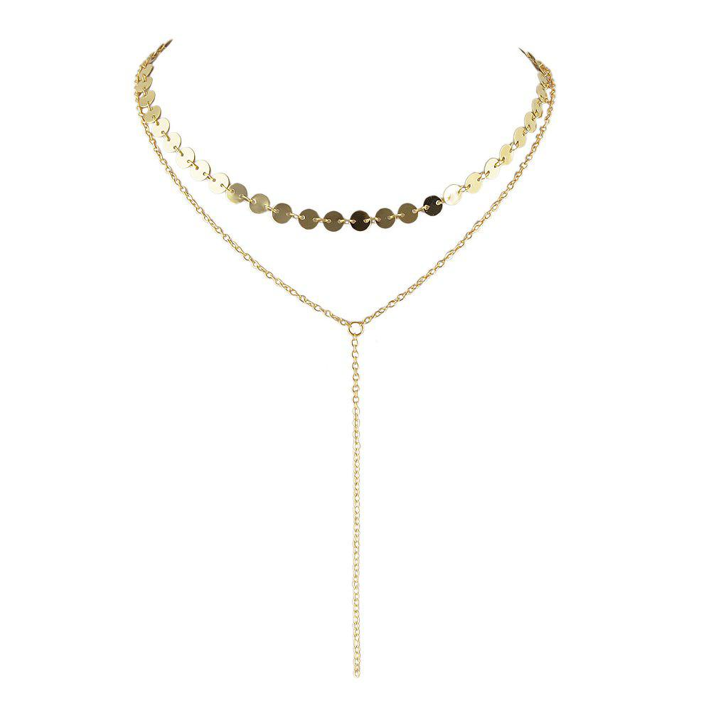 Minimalist Silver Gold-Color Chain Necklace - GOLD