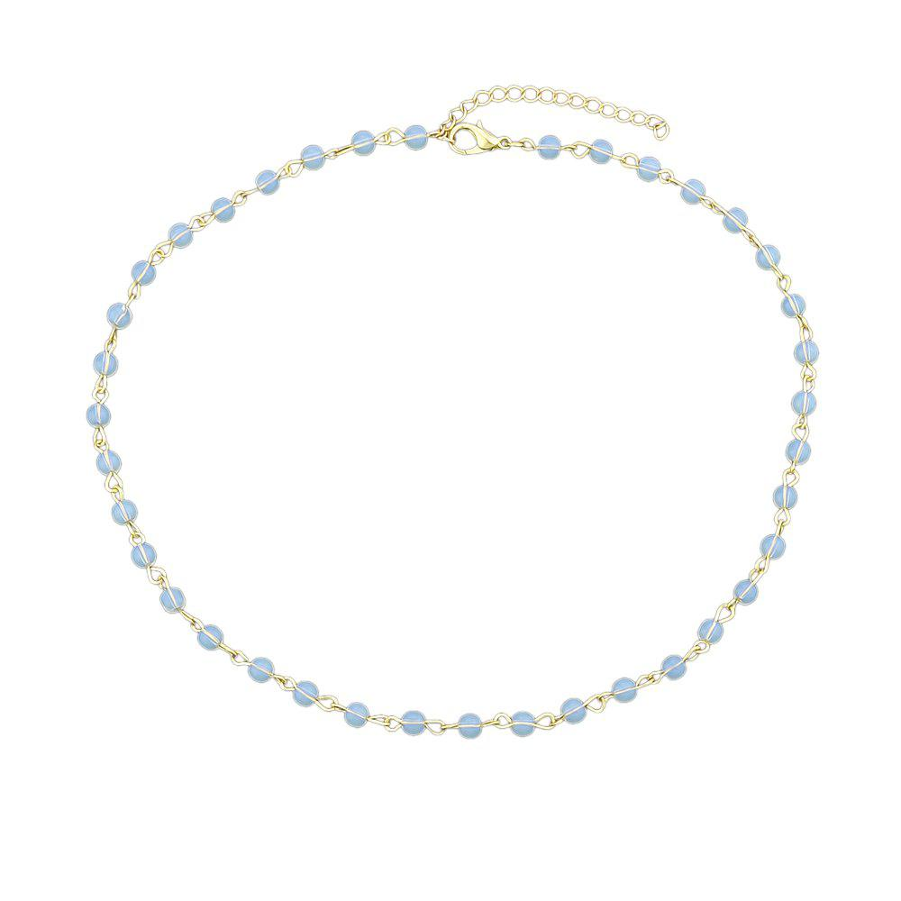 Black Blue Beads Chain Necklace Minimalist Necklace стол мастер триан 5 венге дуб молочный мст уст 05 вм дм 16