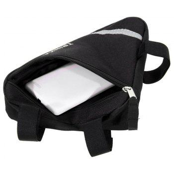 Waterproof Triangle Bags Bike Bicycle Front Tube Frame Pouch Saddle Bag - BLACK