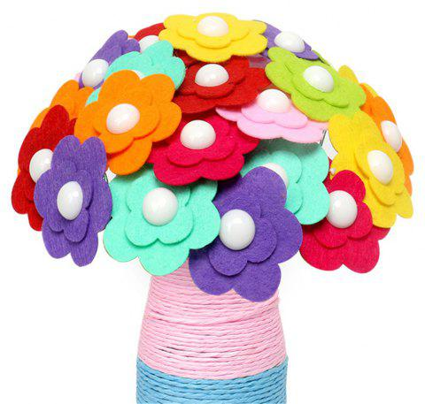 DIY Felt Button Flower Craft Kids Creative Toy - multicolor C