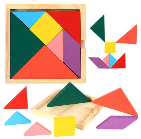 Wooden Jigsaw Puzzle Intelligence Toy for Child - multicolor 20CM