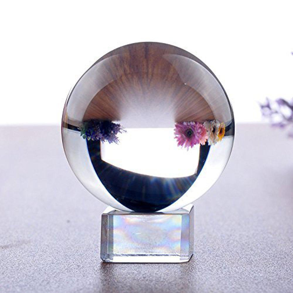 K9 Clear Crystal Ball Globe Suit with Stand for Photography Decoration Art Decor - TRANSPARENT