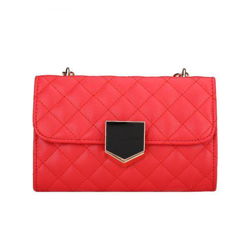 All-Match  Chain Single Shoulder Bag - RED