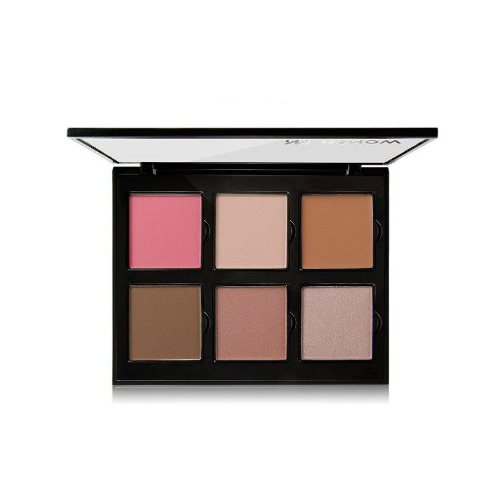 Menow Brand New Makeup 6 Colors Palette - multicolor B