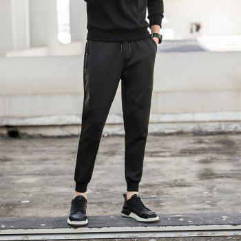 Jogging Pants with Zipper Pockets Pants - BLACK 2XL