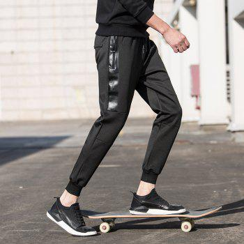 Jogging Pants with Zipper Pockets Pants - BLACK XL