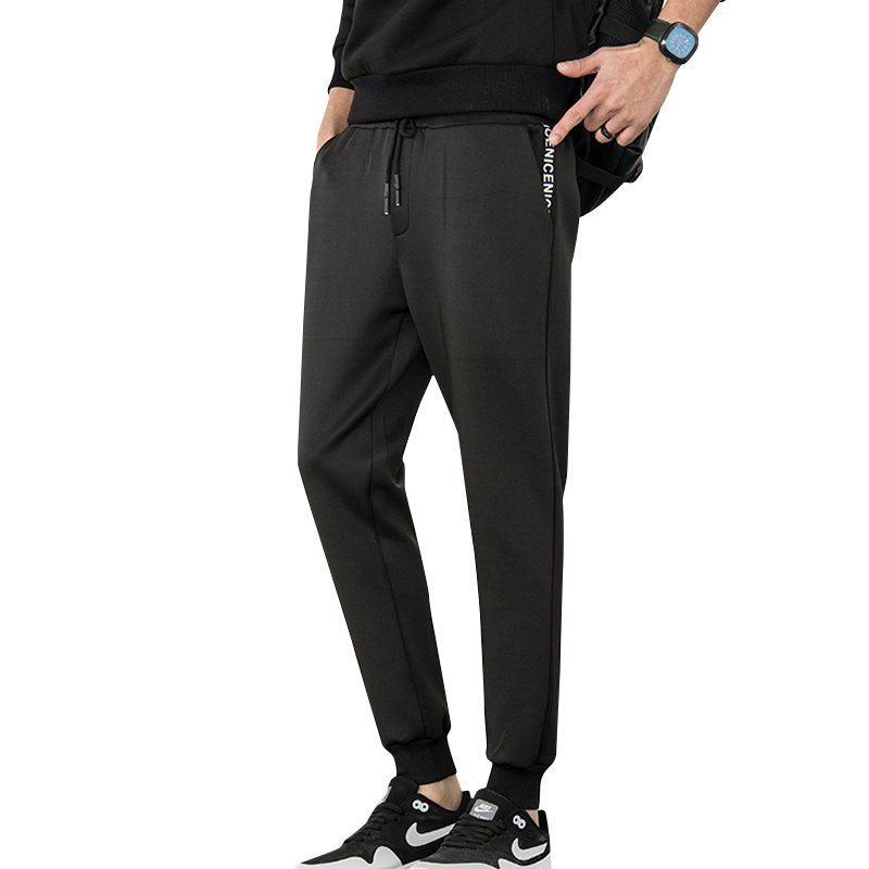 The Jogging of The Pocket Alphabet Pants - BLACK 3XL