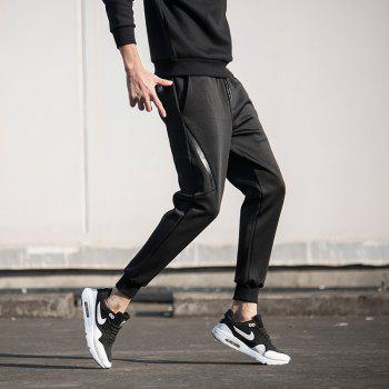 Casual Elastic Waistline Jogging Pants - BLACK XL