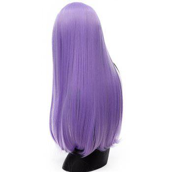 Long Straight Purple Wig High Temperature for Women Cosplay Party Costume 26 inch - PURPLE DAFFODIL
