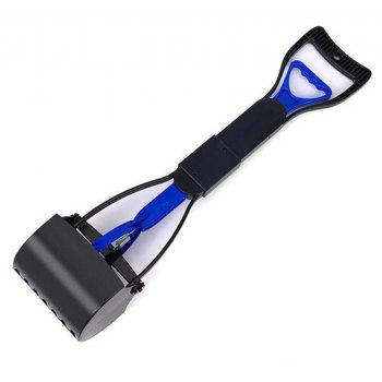 Collapsible Pet Cleaner with Long Handle - BLUE