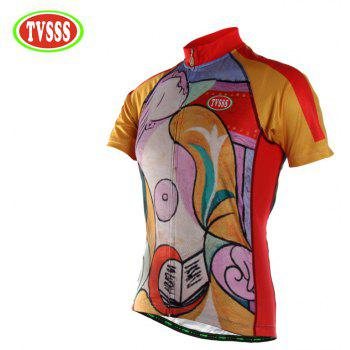TVSSS Men Summer Character Art Style Short Cycling Jersey T-Shirt - multicolor XL