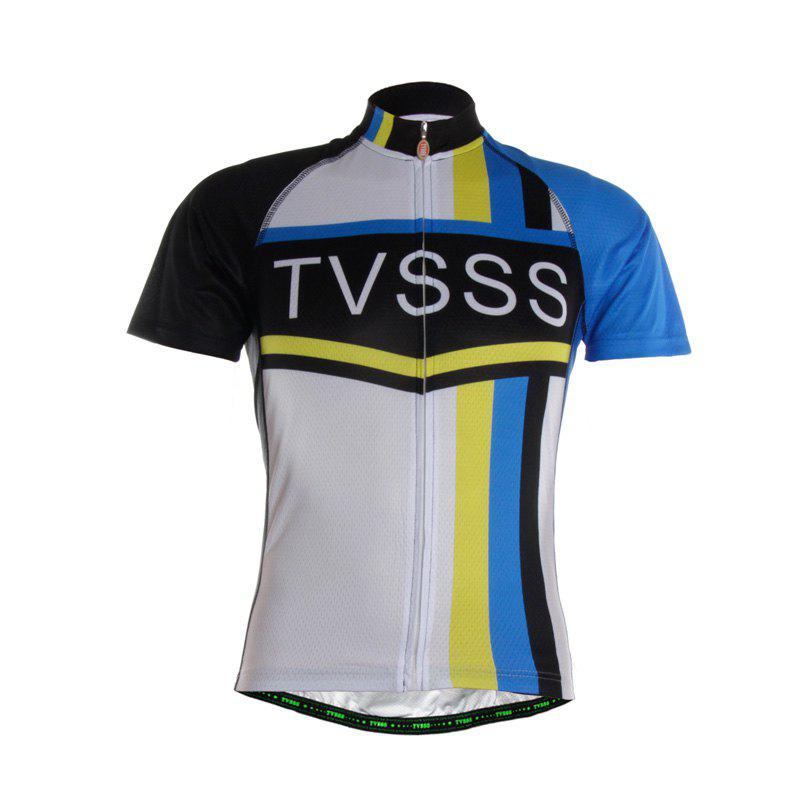 Men Summer TVSSS Logo Classic Short Sleeve Bike Sportswear - multicolor 3XL