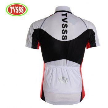 TVSSS Men Summer Black and White Mix Simple Short-Sleeved Riding Sportswear - WHITE L