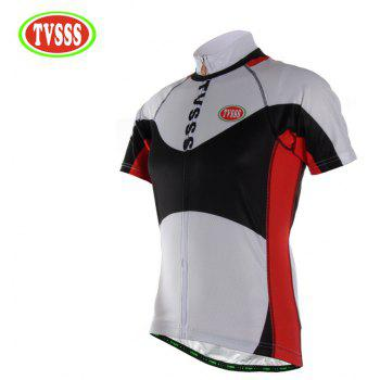 TVSSS Men Summer Black and White Mix Simple Short-Sleeved Riding Sportswear - WHITE 2XL