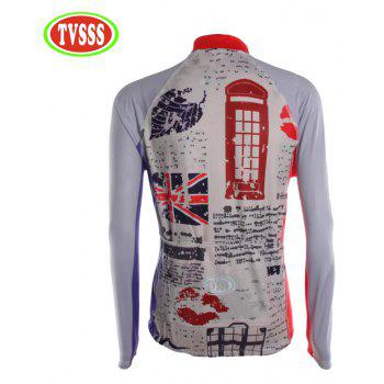 TVSSS Men Winter Long Sleeve British Style Cycling Jersey Sportswear - multicolor M
