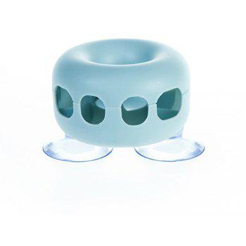 Bathroom Wall Mounted Built-in Toothbrush Holder - PASTEL BLUE