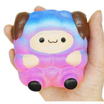 Jumbo Squishy Cute Sheep Galaxy Rainbow Alpaca Slow Rising Scented Toy Gift - multicolor