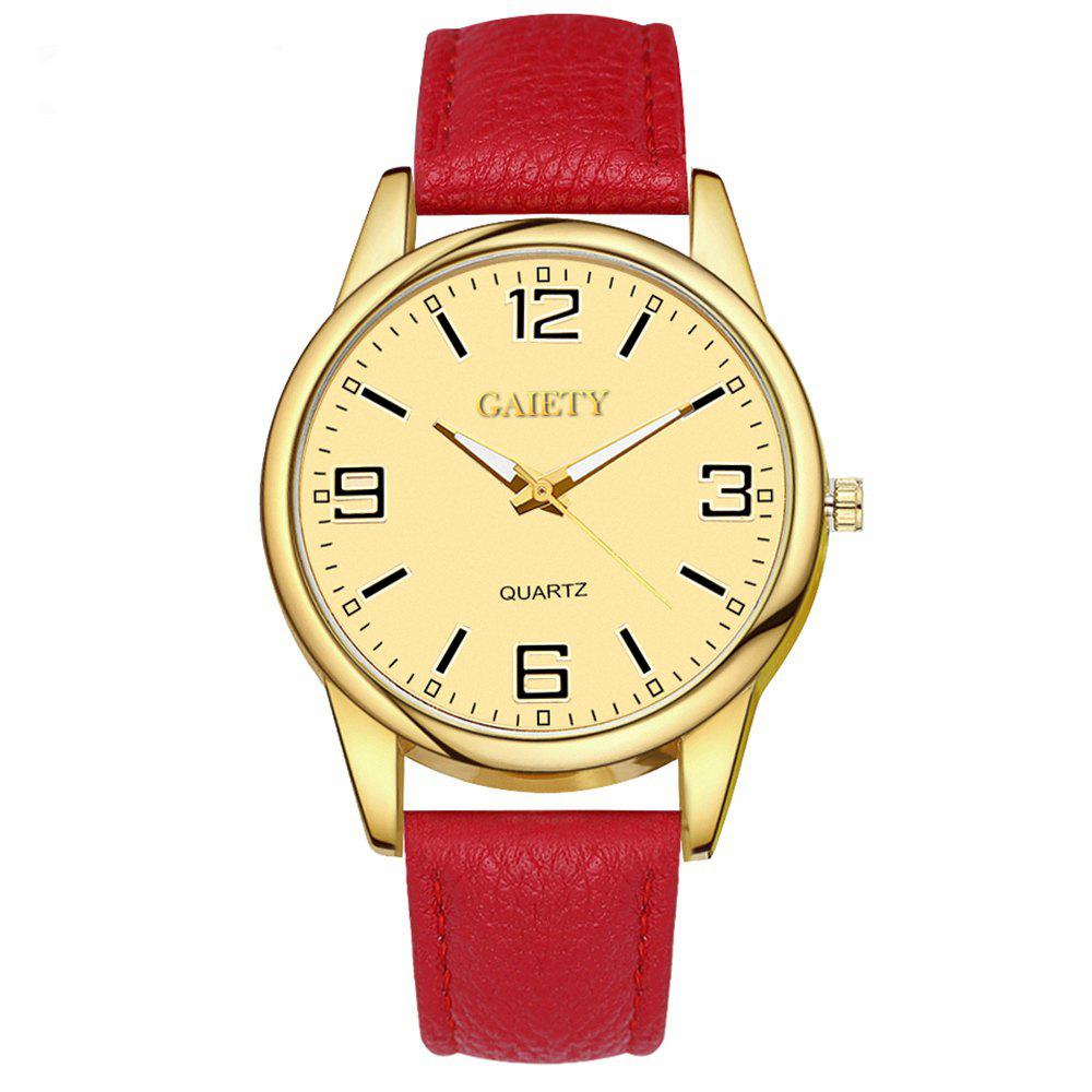 Leisure Personality Quartz Watch - RED