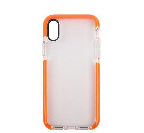 for iPhone X  Case Ultra Clear TPU Shockproof Non-Slid Slim Anti Scratch - DARK ORANGE