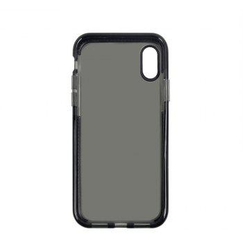 for iPhone X  Case Ultra Clear TPU Shockproof Non-Slid Slim Anti Scratch - BLACK