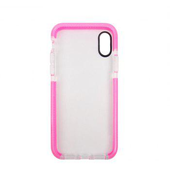 for iPhone X  Case Ultra Clear TPU Shockproof Non-Slid Slim Anti Scratch - PINK BUBBLEGUM