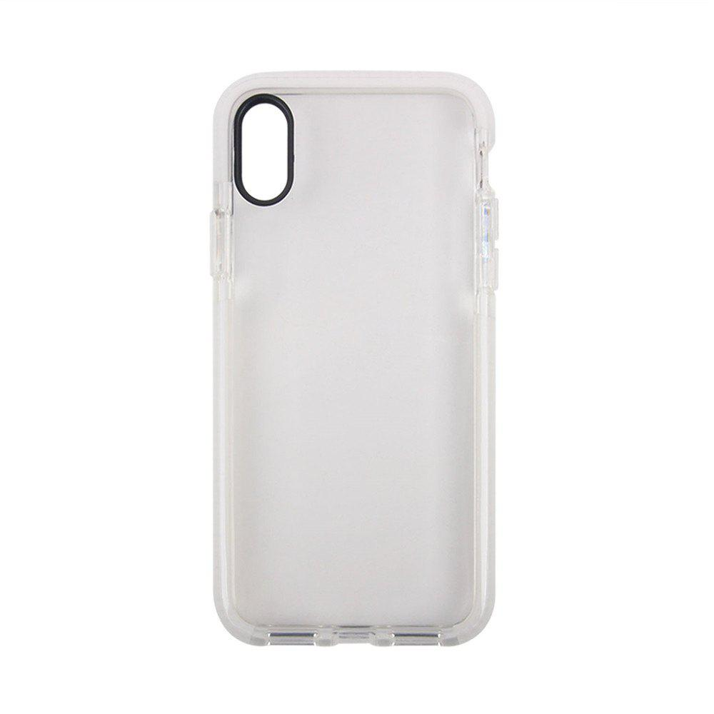 for iPhone X  Case Ultra Clear TPU Shockproof Non-Slid Slim Anti Scratch - MILK WHITE