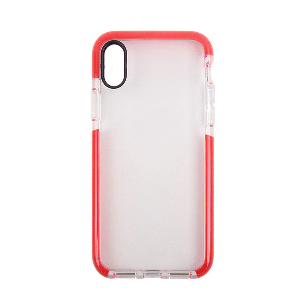 for iPhone X  Case Ultra Clear TPU Shockproof Non-Slid Slim Anti Scratch - RED